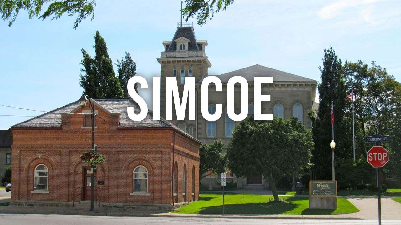 "urban landscape shot with ""simcoe"" text"