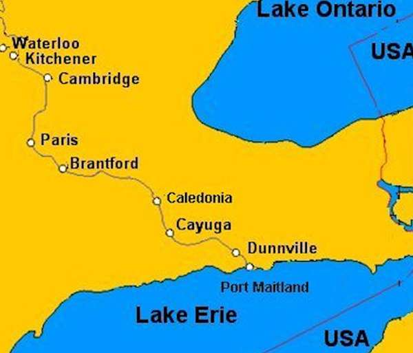 map showing location of cayuga