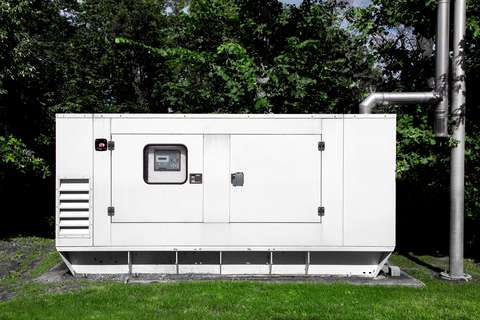A picture of a backup power generator