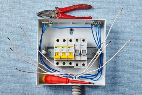 A picture of an electrical panel