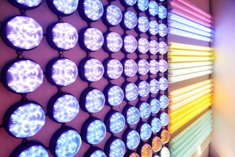 A picture of colorful lights